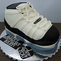 Jordan 11 Concorde Cake by Gracielicious PH
