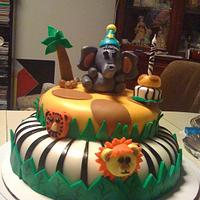1st Birthday Safari Cake