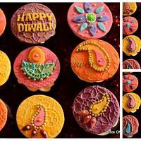 Diwali rangoli cupcakes...