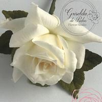 white rose flower paste