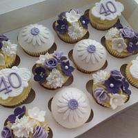Lilac 40 Floral by CakeDIY