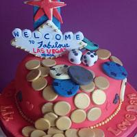 Las Vegas Themed cake