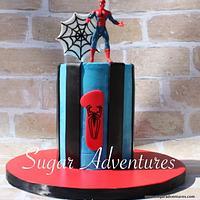 Spiderman Smash Cake