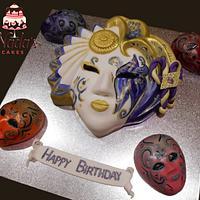 Venician Masks Cakes