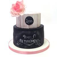 Chalkboard Retirement Cake