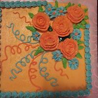 flower on cake