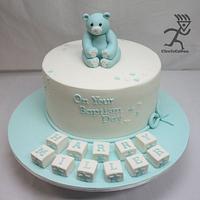 Baptism Cake for a little boy