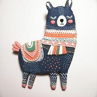 Folk Art Llama Cookie