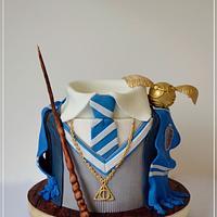 Harry Potter Ravenclaw cake