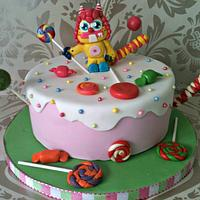 Moshi monster themed cake