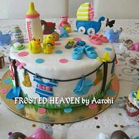 Colorful Baby Shower Cake