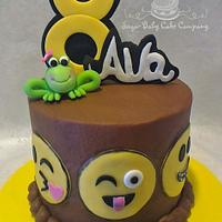 "Emoji ""Leap Year"" Birthday Cake"
