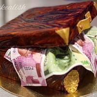 Antique money box cake