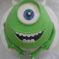 Mike Wuzowski Monsters Inc Rainbow Cake