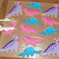 Girly Dino Cookies