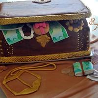 treasure box cake