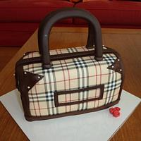Cake with Burberry print