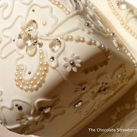 Wedding cake with edible gems