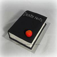 Death Note Book Cake