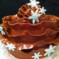 choc ruffle cake