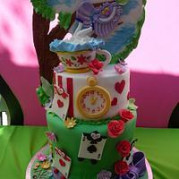 Alice in Wonderland Cake by Roscoe Bakery by RoscoeBakery