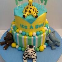 Baby Shower Cake---It's a BOY!!!