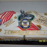 Navy Submarine Retirement Cake