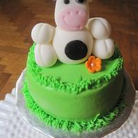 Cow smash cake by Renee Daly