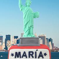 Statue of Liberty Birthday Cake