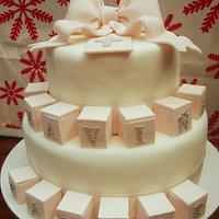 Christening Cake  by FabcakeMama