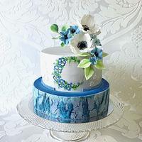 Birthday in blue