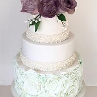 Sea breeze green & purple wedding