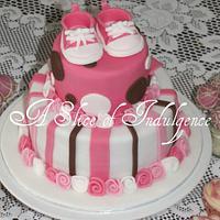 Baby Shower cake by ASliceofIndulgence