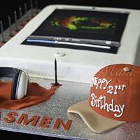 21st ipod cake