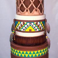 My Gold indian wedding cake