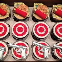 gun and ammo cupcakes by Skmaestas