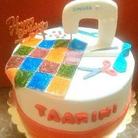 Stitching Theme cake