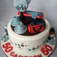 Weightlifting Chemist's cake!