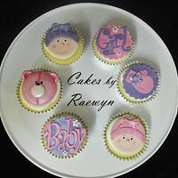 Babyshower Cupcakes in Pink and Purple