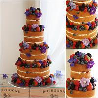 Tumbling Berries wedding Cake