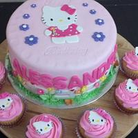 Hello kitty cake!!!!!