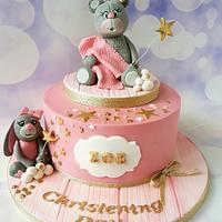 Pink..christening cake