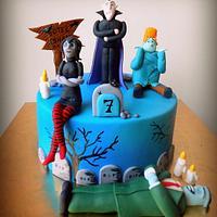 Hotel Transylvania theme cake !!  by Joonie Tan