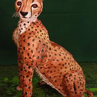 Gravity Defying Cheetah Cake