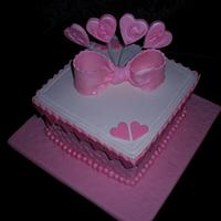 Pink Hearts Box  by Sugarart Cakes