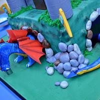 Dragon/Castle 5th Birthday cake