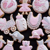 Welcome Baby Girl Cookies