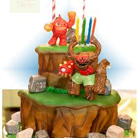 Skylanders Cake Tree rex and Eruptor