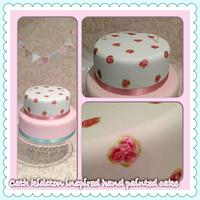 hand painted cake 1st attempt