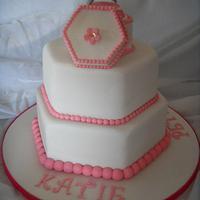 Ring Box Topper Hexagonal Engagement Cake